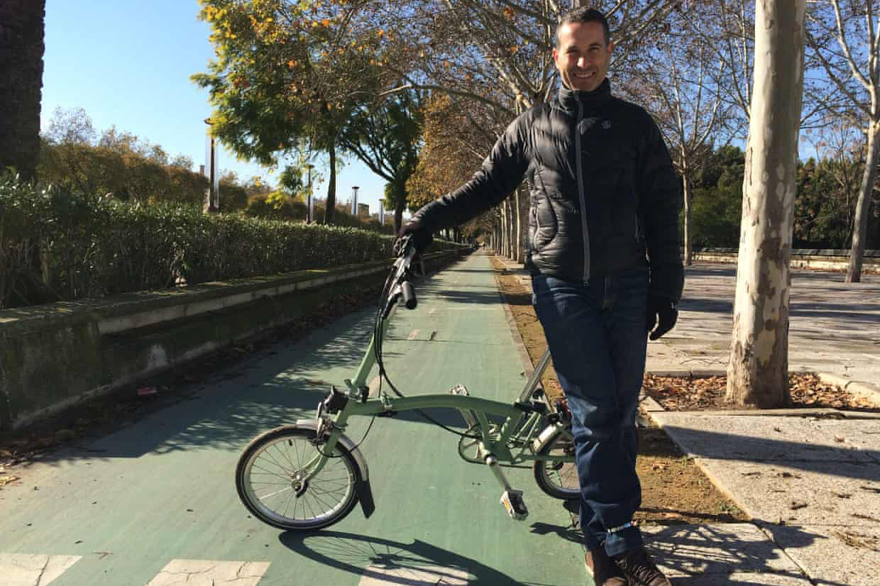 Seville has built 100km of segregated cycle paths in just 5 years. Photo Peter Walker
