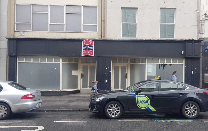 Vacant shops on O'Connell street Limerick