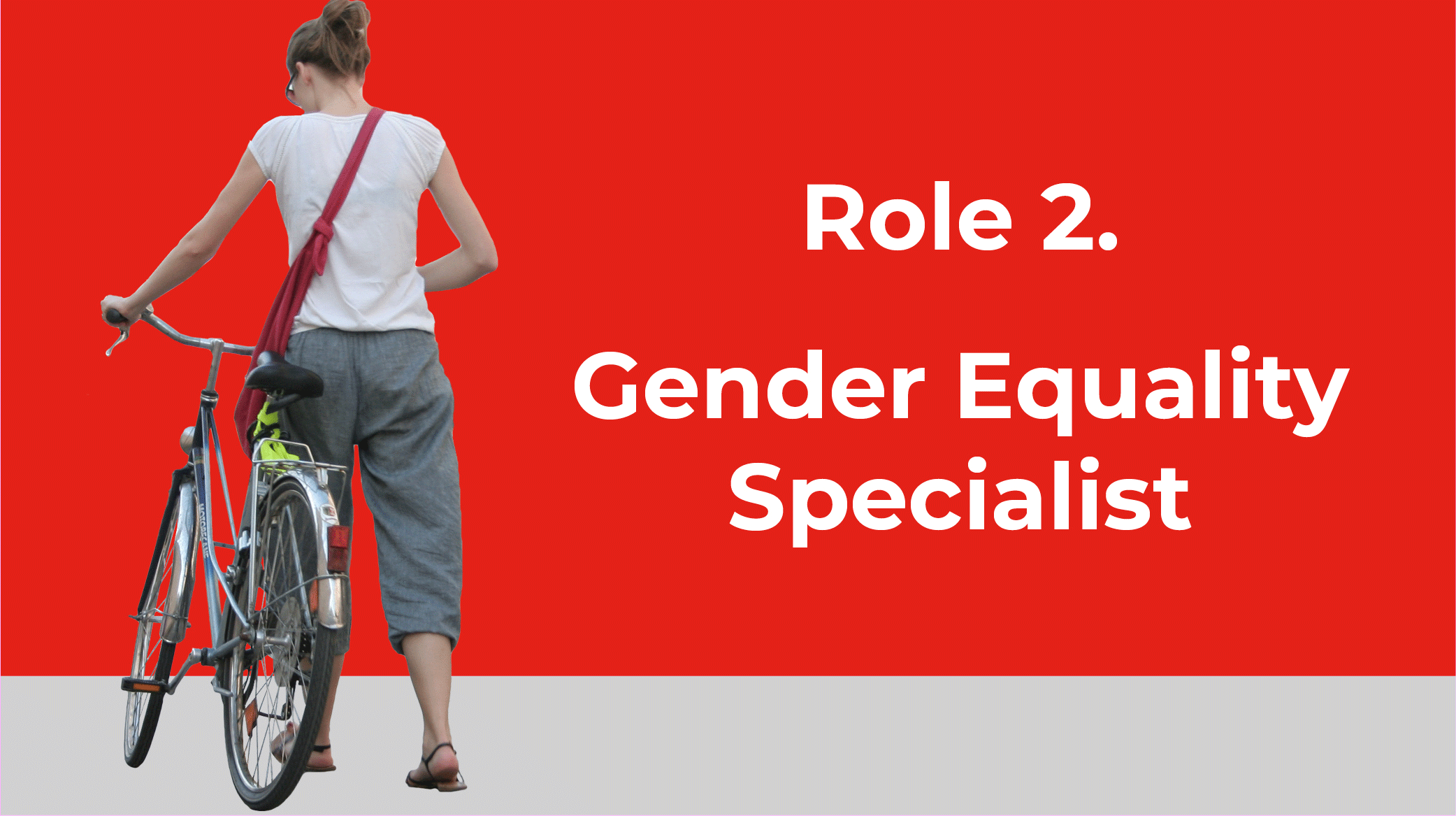 Woman on a bike Limerick cycling campaign is requesting the creation of a Gender Equality Specialist